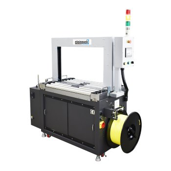 AC driven strapping machine with roller driven tabletop