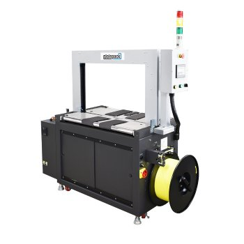 AC driven strapping machine with belt driven tabletop